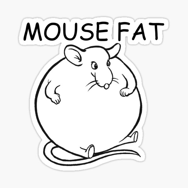 Mouse Fat Sticker