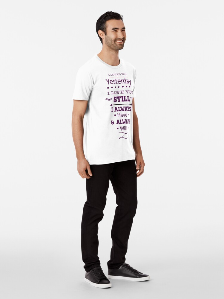 Alternate view of Message of love Premium T-Shirt