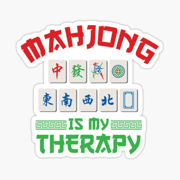 Mahjong Therapy Design for True Fans Sticker