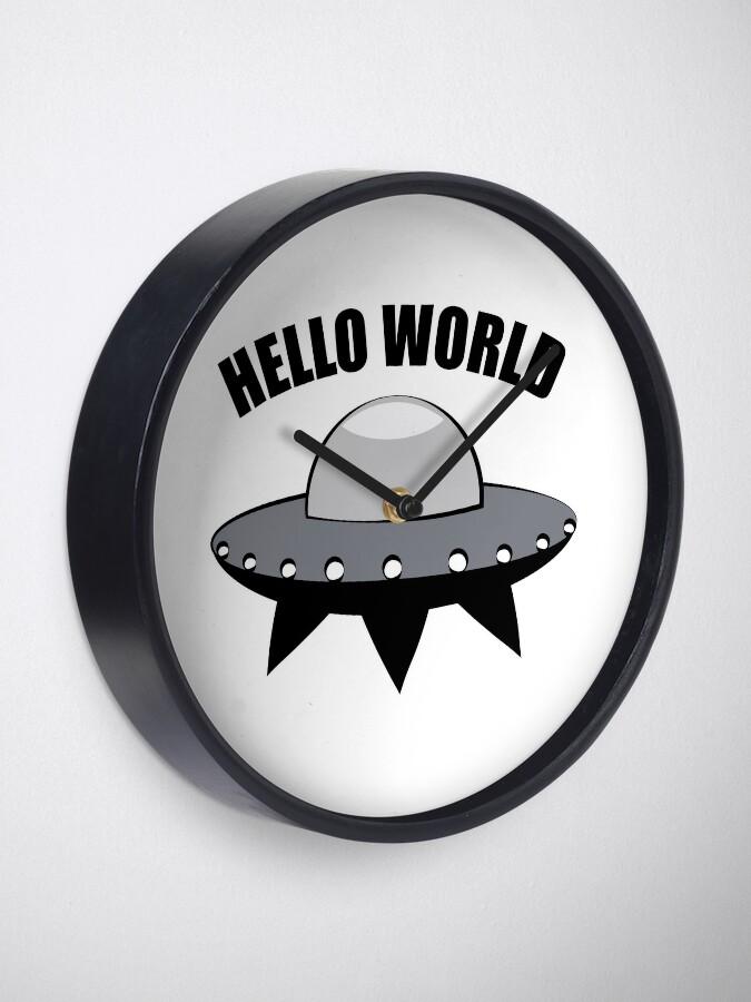 Alternate view of Hello World Clock