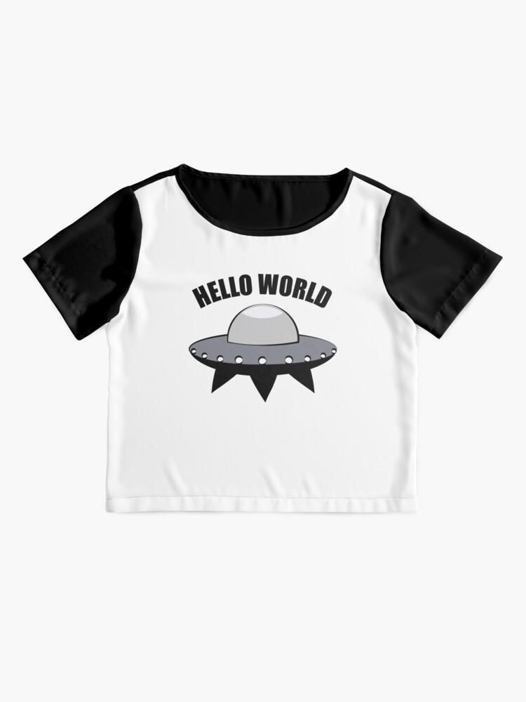 Alternate view of Hello World Chiffon Top