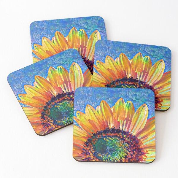 Solar eyelashes Coasters (Set of 4)