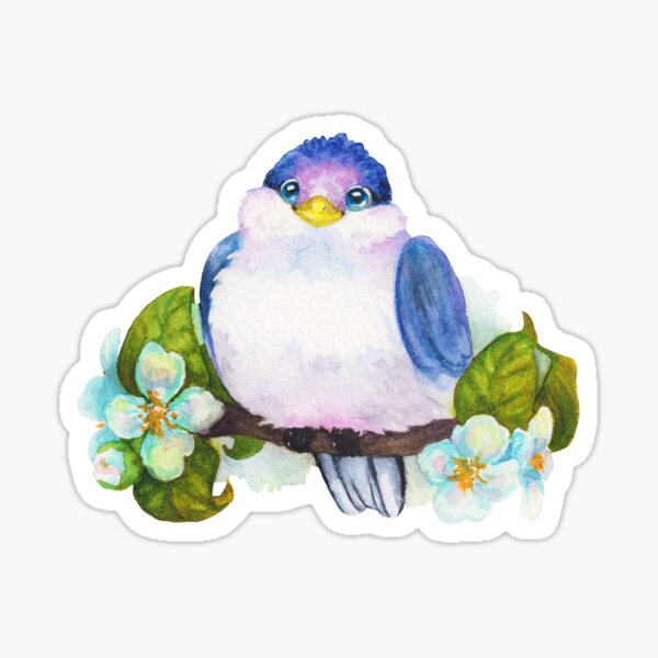 Little Blue Fantasy Bird Sticker