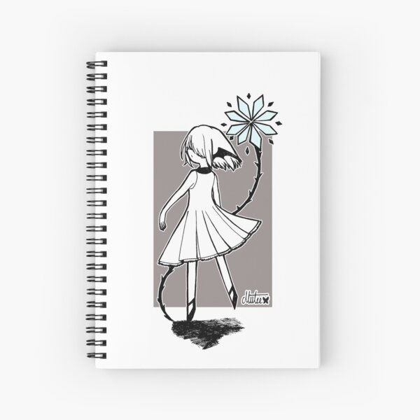 Blue Flower Devil Spiral Notebook