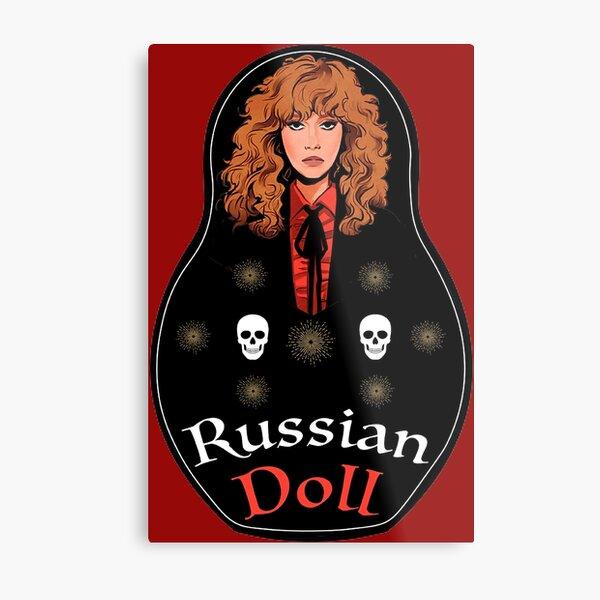 Russian Matryoshka Muñeca Collar De Plata De Vidrio Vintage Regalo URSS Rusia rusas