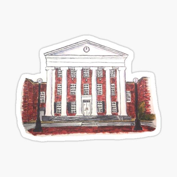 Watercolor University of Mississippi Lyceum- Ole Miss Rebels Sticker