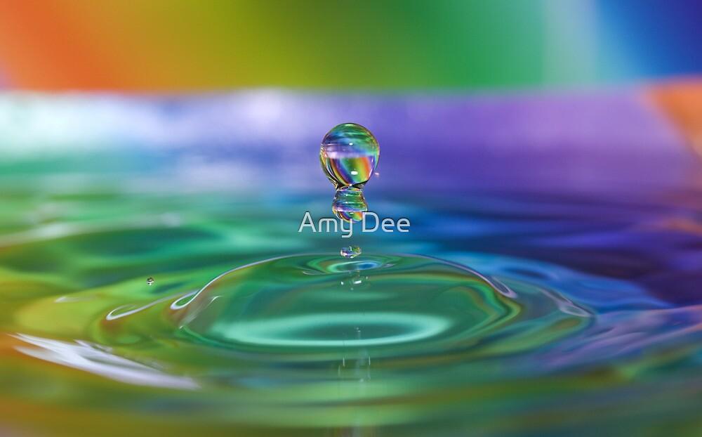 Rainbow Stripe Droplets by Amy Dee