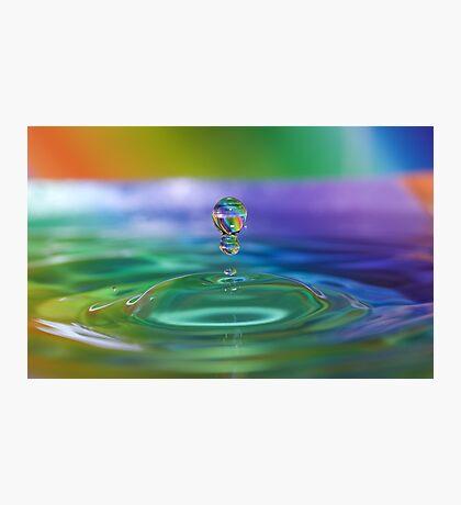 Rainbow Stripe Droplets Photographic Print