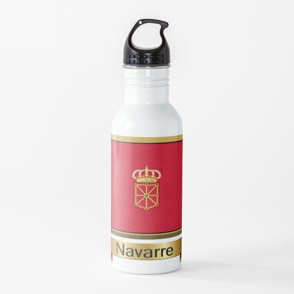 Pegatinas, regalos y productos con la bandera de Navarra Botella de agua