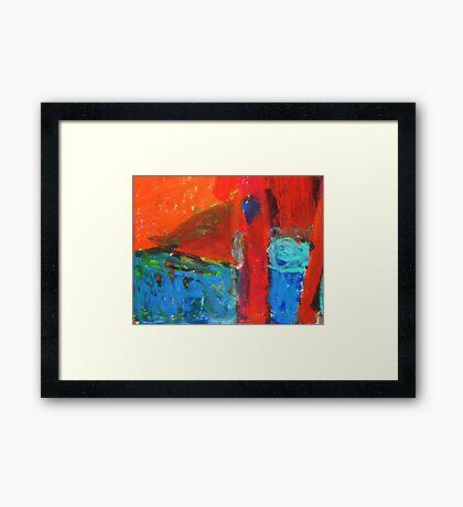 mound in landscape Framed Print