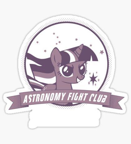 Twilight Sparkle's Astronomy Fight Club Sticker