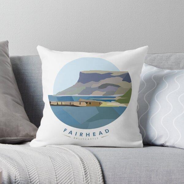 Fairhead, Northern Ireland Throw Pillow