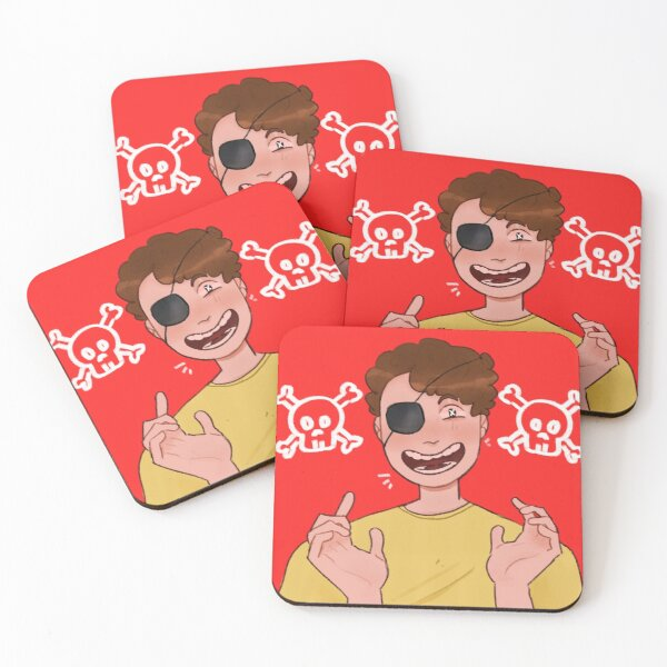 evil morty  Coasters (Set of 4)