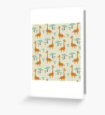 Giraffes Greeting Card