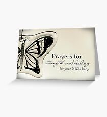 Prayers for a NICU Baby Greeting Card