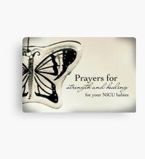 Prayers for NICU Babies Canvas Print