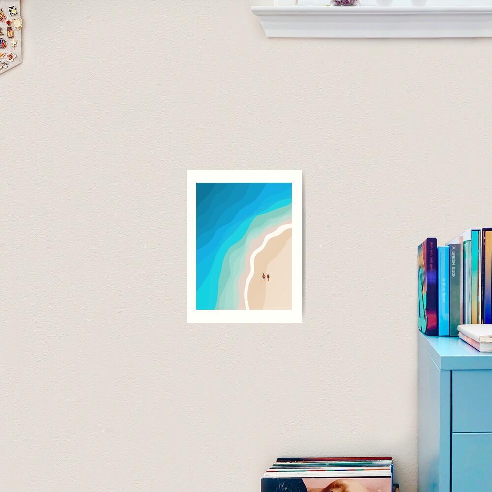 The Island | Aerial Illustration  Art Print