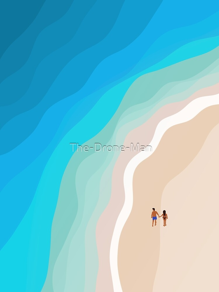 The Island | Aerial Illustration  by The-Drone-Man