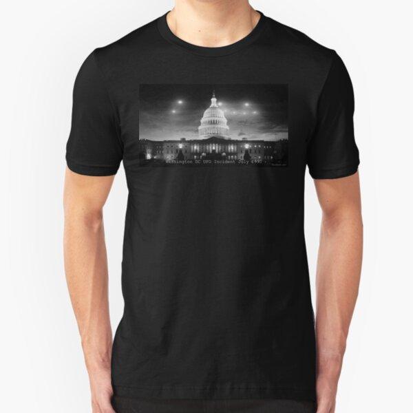 Washington DC UFO Flap Slim Fit T-Shirt