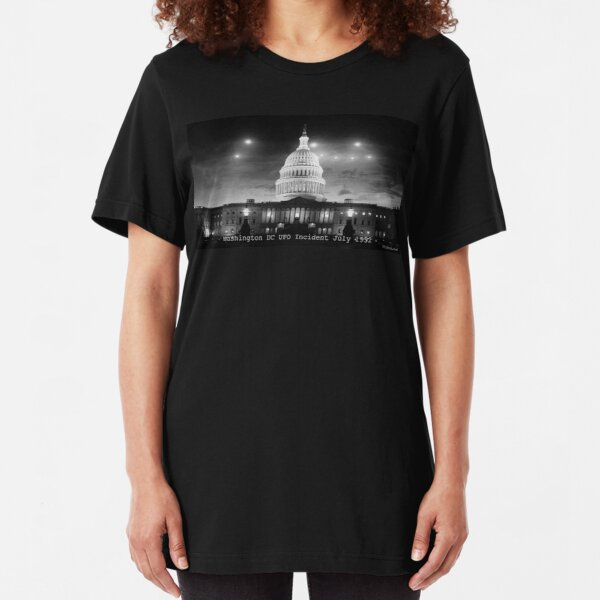 Washington DC UFO Flap Slim Fit T-Shirt