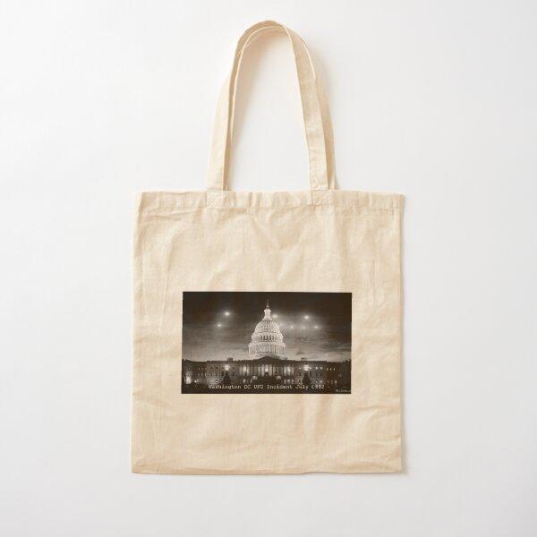 Washington DC UFO Flap Cotton Tote Bag
