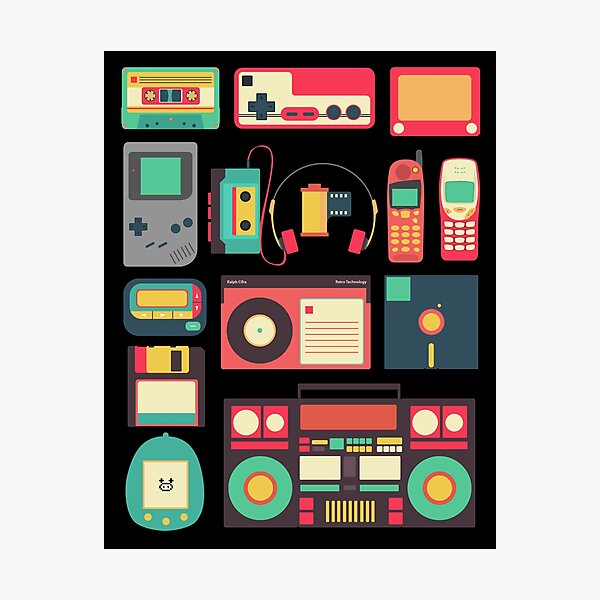 RETRO TECHNOLOGY 1.0 Photographic Print