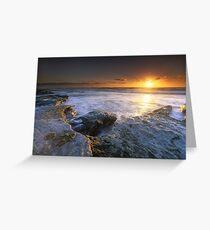 """The Golden Hour"" ∞ Caloundra, QLD - Australia Greeting Card"