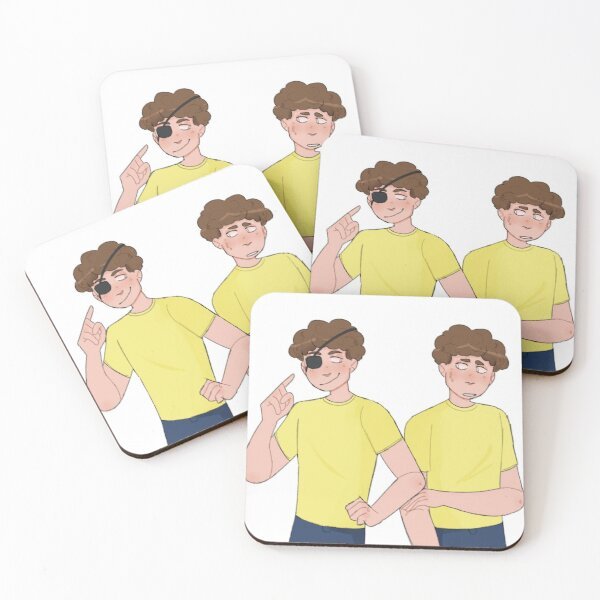 evil morty and morty  Coasters (Set of 4)