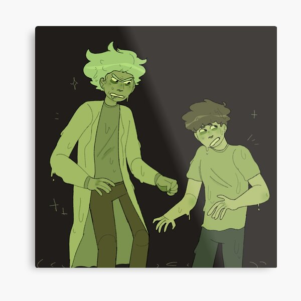toxic rick and morty  Metal Print