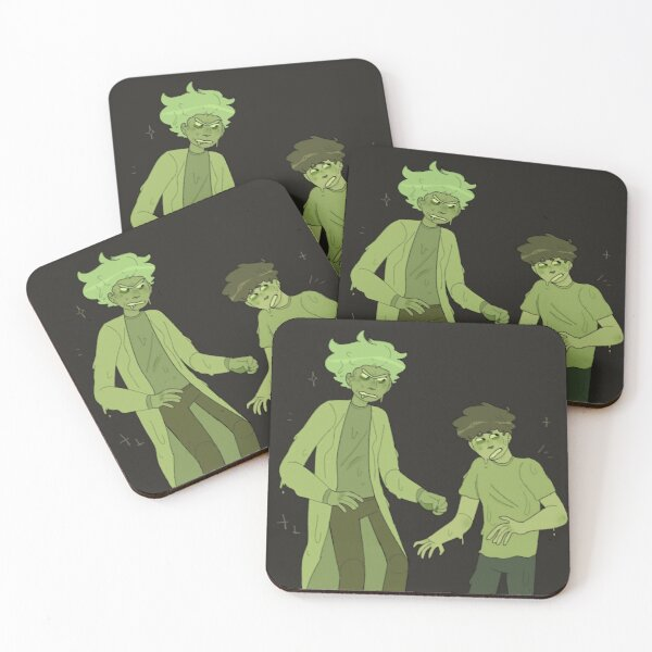 toxic rick and morty  Coasters (Set of 4)