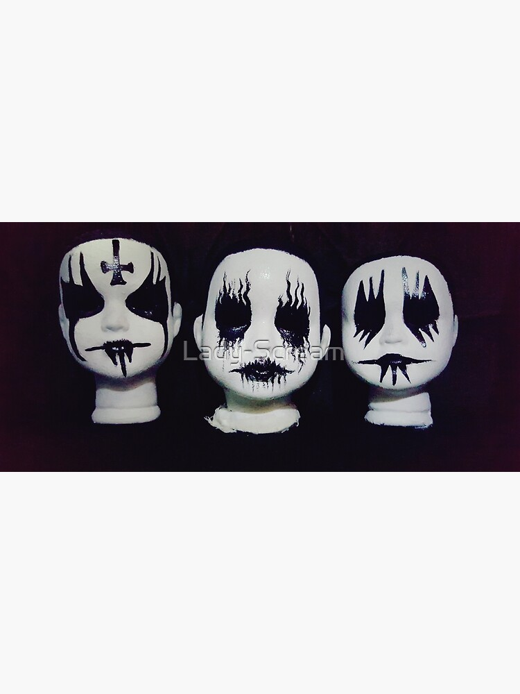 Corpse Paint Black Metal Doll Heads ~ Lady Scream by Lady-Scream