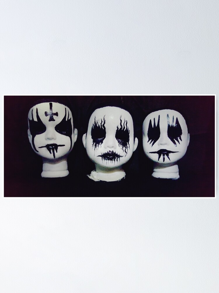 Alternate view of Corpse Paint Black Metal Doll Heads ~ Lady Scream Poster