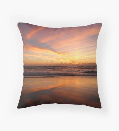 Feathered Sunset Throw Pillow