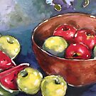 Still Life with Apples and Watermelon by Marie Theron
