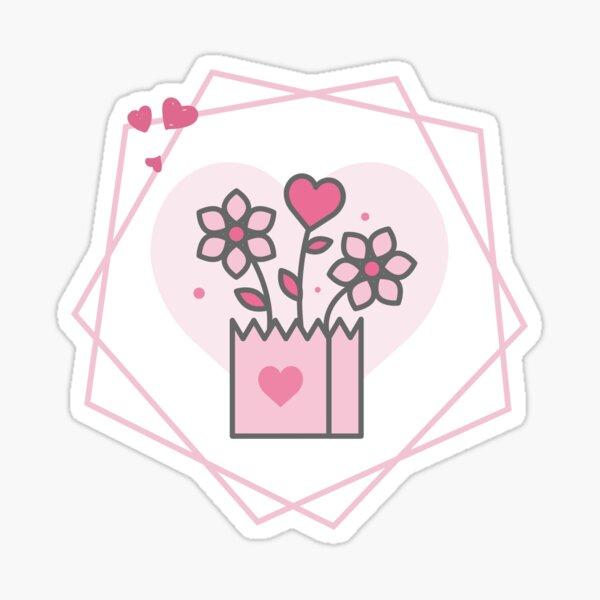 Love flower Sticker