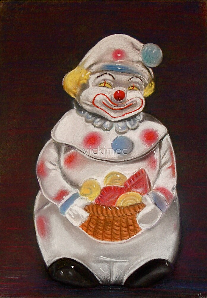 Clown in a cookie jar by vickimec