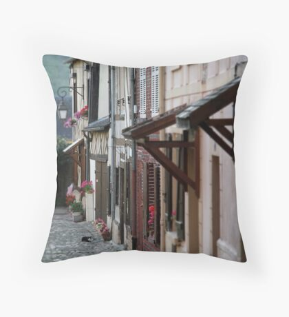 French Cottages Throw Pillow