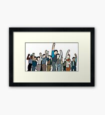 Newsies Newsboys Strong and Defiant Framed Print