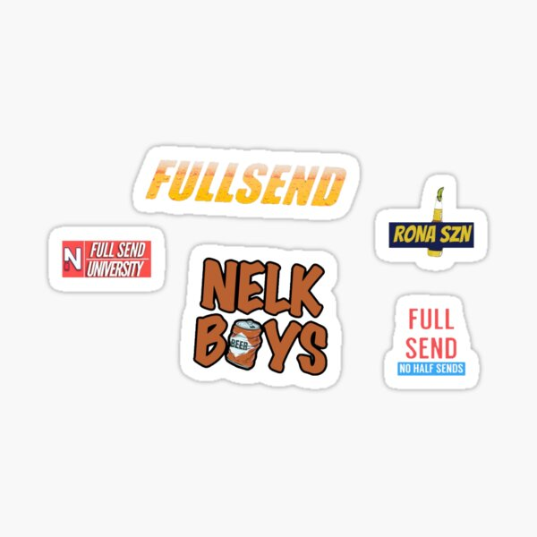 FULL SEND NELK BOYS STICKER SET (5) Sticker