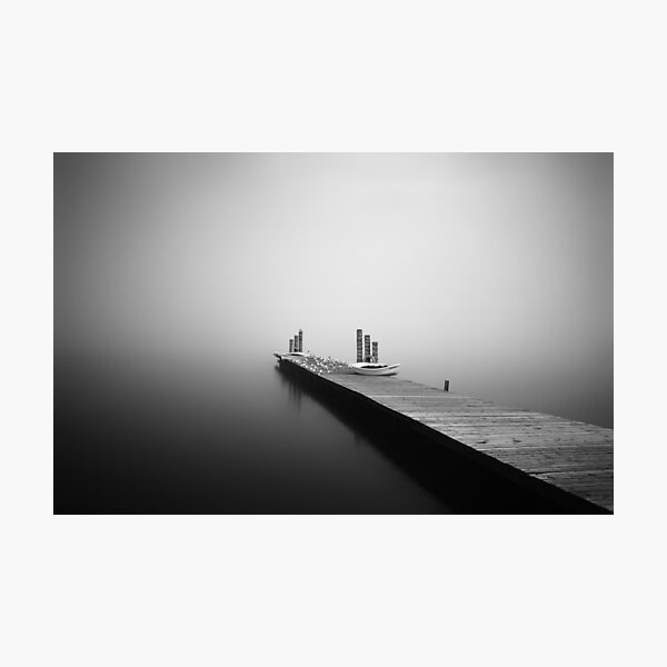 Loch Lomond Jetty in the mist Photographic Print
