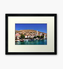 Fishing Boats at the Harbour Framed Print