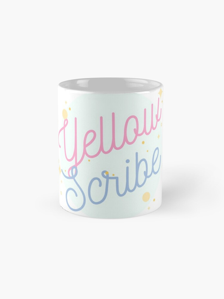 Alternate view of PrettyScribe by YellowScribe Mug