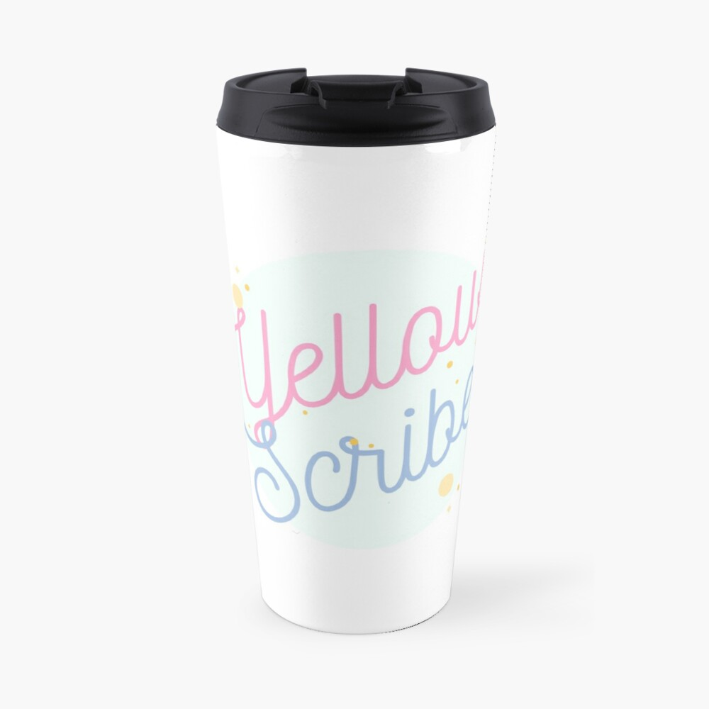 PrettyScribe by YellowScribe Travel Mug