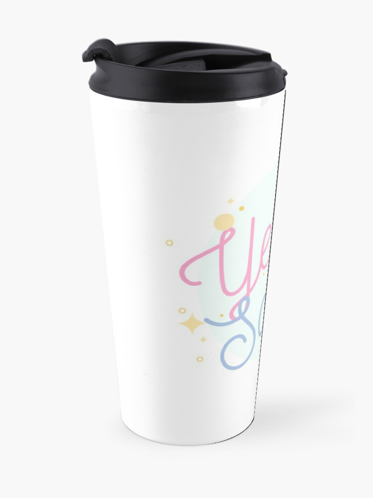 Alternate view of PrettyScribe by YellowScribe Travel Mug