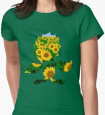 Sunflora used solar beam Womens Fitted T-Shirt
