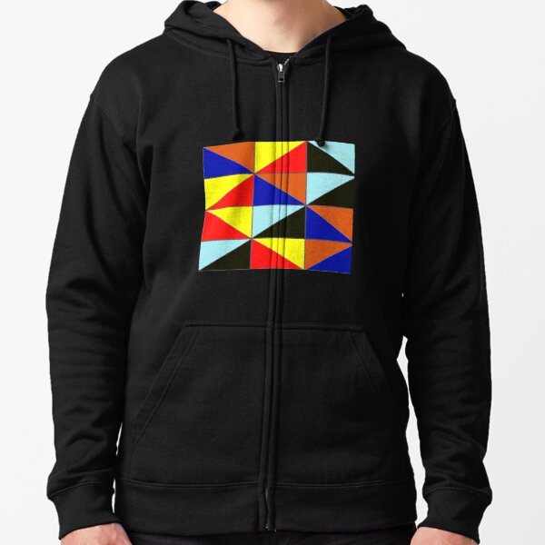 Colorful Grids Zipped Hoodie