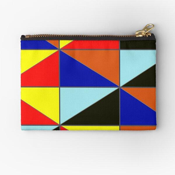 Colorful Grids Zipper Pouch