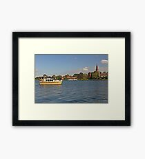 MVP104 Boating at Malchow, Germany. Framed Print