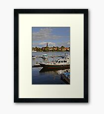 MVP105 Malchow Harbour, Germany. Framed Print