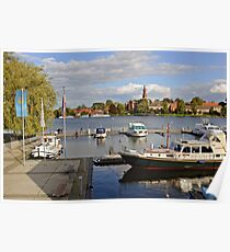 MVP106 Malchow Harbour, Germany. Poster